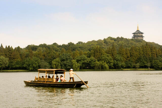 Relaxing Boat Ride at the West Lake 西湖