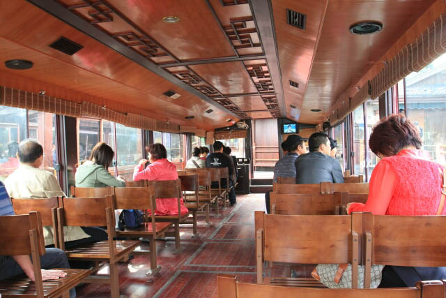Inside the West Lake Tourist Boat