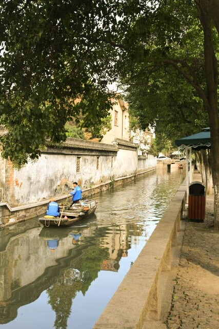 Boat in One of Suzhou's Canals