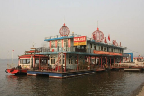 Large Cruise Ship on the Songhua River 松花江