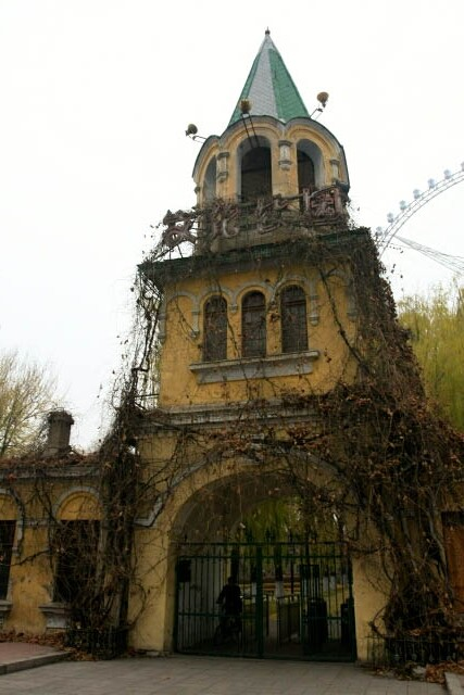 Overgrown Entrance of the Theme Park in Haerbin 哈尔滨