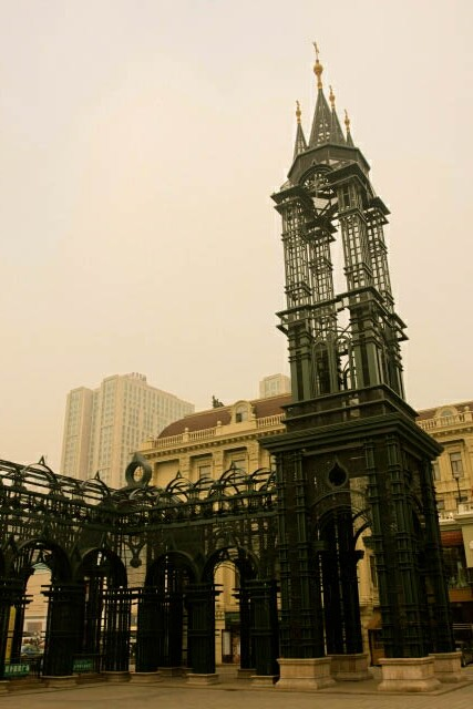 Steel Tower at Sophia Square in Haerbin 哈尔滨