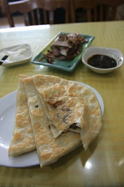Smoked Meat Pancake at Mao Mao Smoked Meat 毛毛熏肉