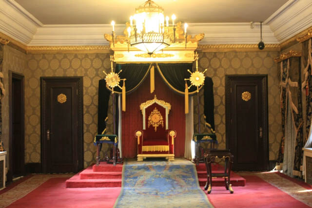 Elegant Throne Room at the Puppet Emperor's Palace 伪满洲皇宫