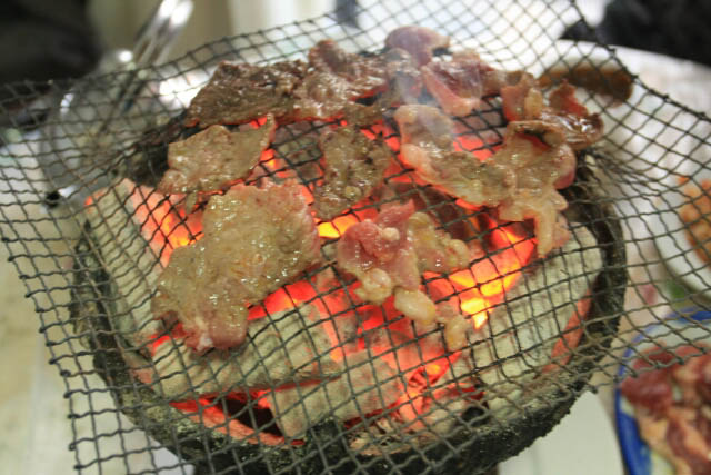 Grilling Some Meat in Ji'an City