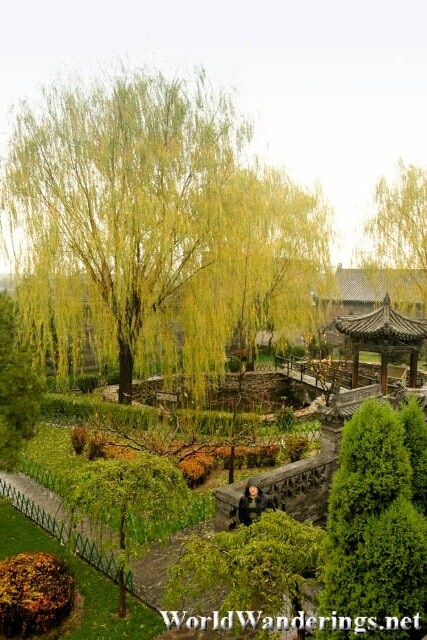 View of a Garden in Pingyao Ancient City 平遥古城