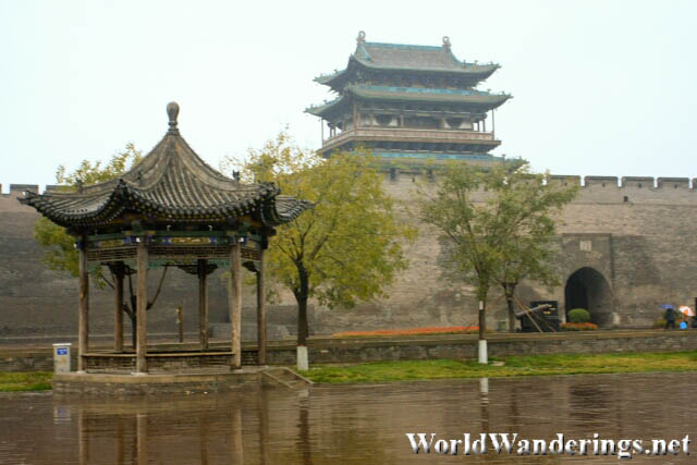 A Small Pavillion Outside the South Gate of Pingyao Ancient Town 平遥古城
