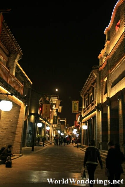 Side Streets of Qianmen Street at Night