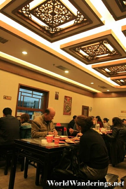 Inside the Quanjude Restaurant 全聚德 in Qianmen Pedestrian Street 前门大街