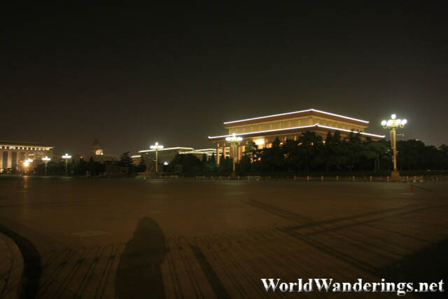 Mausoleum of Mao Zedong at Night