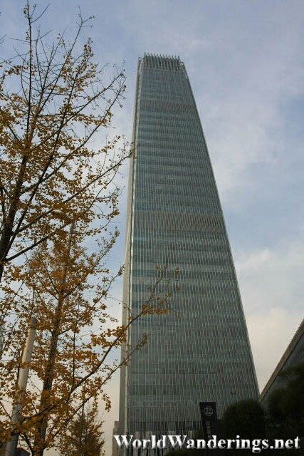 Very Tall Office Tower in Beijing's Central Business District
