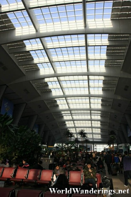 See Through Roof of the Beijing South Railway Station 北京南站