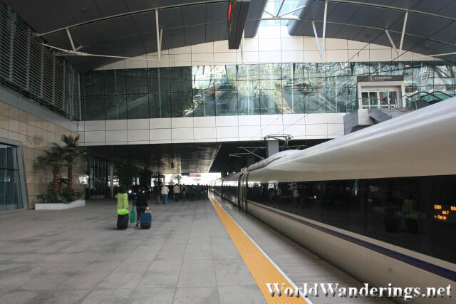 Arrival at Tianjin South Railway Station 天津南站