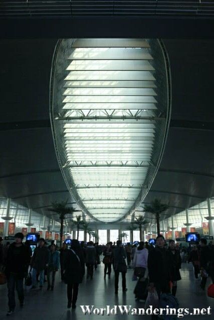 Inside the Tianjin Railway Station 天津站