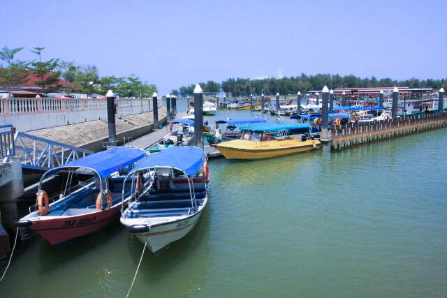 A Look Outside the Kuala Besut Jetty Building