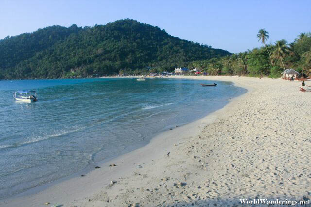 Long Beach in the Morning at Perhentian Kecil