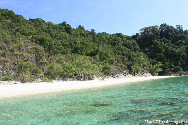 Blindingly White Sand at Romatik Beach at Perhentian Kecil