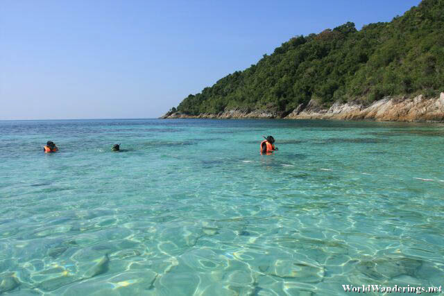 Snorkeling at Romantik Beach at Perhentian Kecil