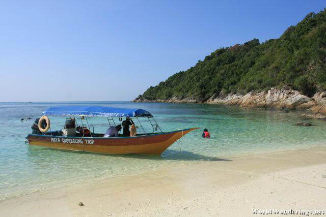 Our Boat at Romantik Beach at Perhentian Kecil