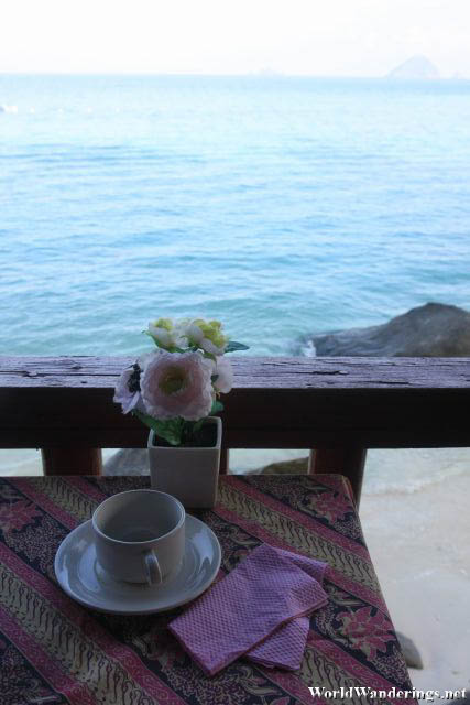 Breakfast By the Sea at Senja Bay Resort at Perhentian Kecil