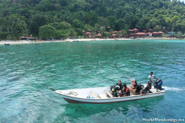 Tourists Done with Scuba Diving at Perhentian Kecil
