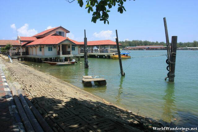 View from the Kuala Besut Jetty