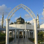 Entrance to the Crystal Mosque in Kuala Terengganu