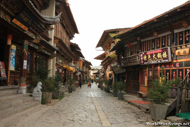 Streets of Dukezong Old Town 獨克宗古城 in Shangrila 香格里拉