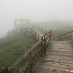 Hazy Wooden Walkway at the Top of Shika Snow Mountain 石卡雪山