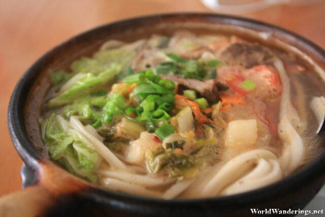 Claypot Noodles at Dukezong Ancient Town 独克宗古城
