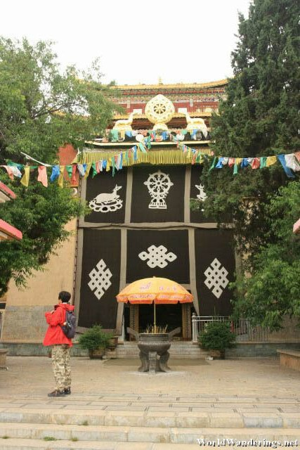 Entrance to the Main Hall of the Tibetan Temple at Guishan in Dukezong Ancient Town 独克宗古城