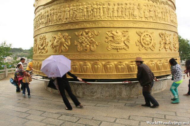 Turning the Giant Prayer Wheel