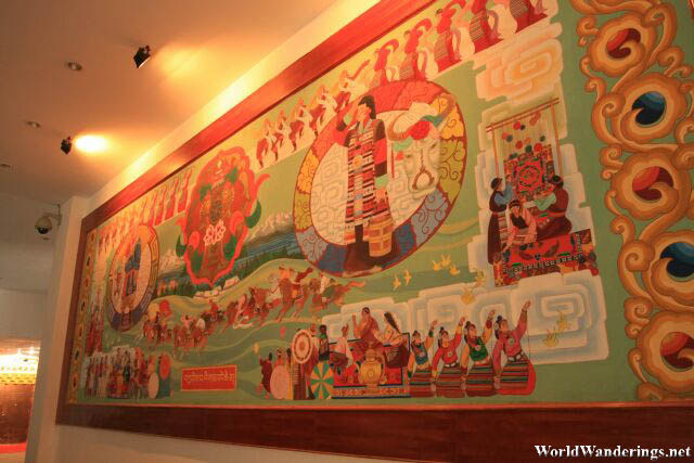 Lovely Tibetan Art at the Diqing Tibetan Museum at Dukezong Ancient Town 独克宗古城