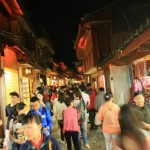 Busy Streets of Lijiang Ancient Town at Night 丽江古城