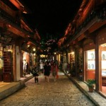 Cobblestoned Street of Lijiang Ancient Town 丽江古城
