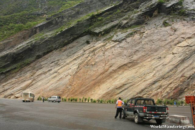 Rugged Mountainside at the Upper Tiger Leaping Gorge 虎跳峡