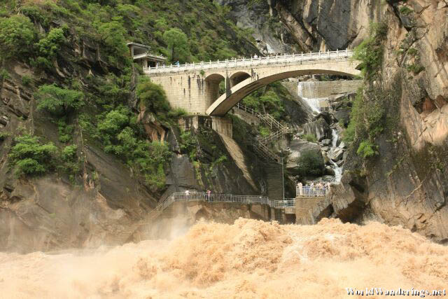 Raging River Below the Opposite Observation Deck at the Upper Tiger Leaping Gorge 虎跳峡