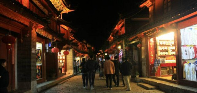 Old Street at Lijiang Ancient Town 丽江古城