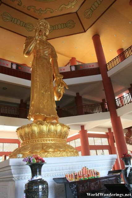 Statue of Guanyin at the Rain Copper Guanyin Hall 雨铜观音殿
