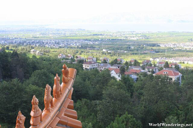 View from the Lakeview Tower 望海楼 at Chongsheng Temple 崇圣寺
