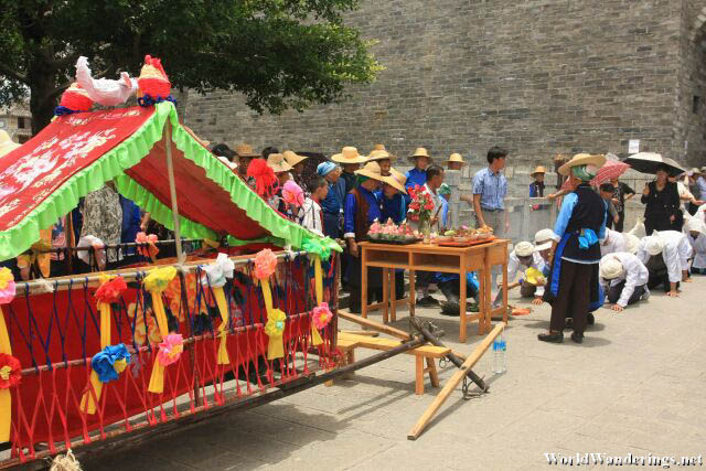 Funeral Procession Outside Dali Ancient Town 大理古城