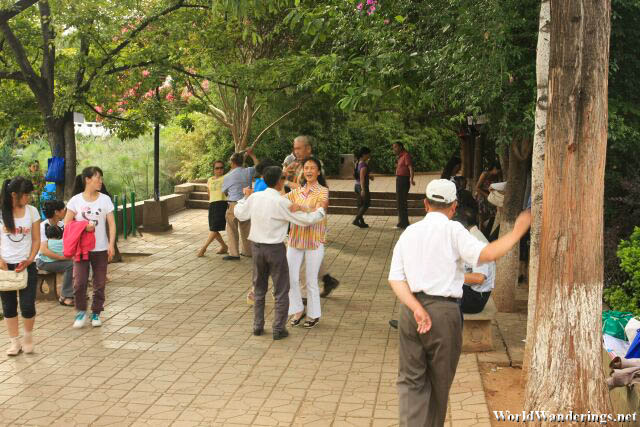 Elderly Folk Dancing the Afternoon Away in Kunming 昆明
