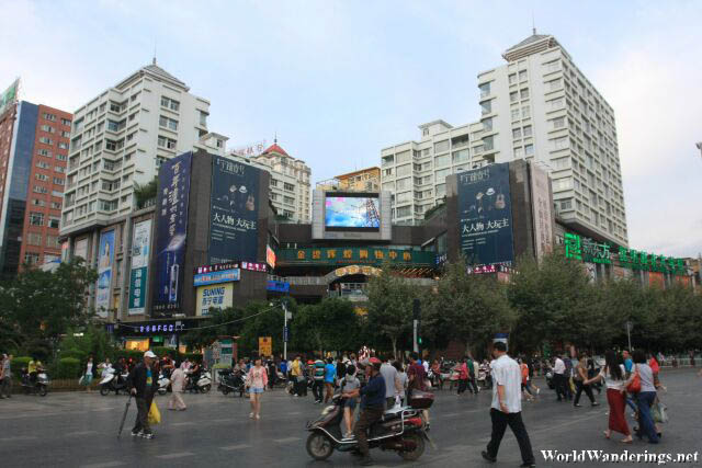 Crossing One of Kunming's Major Roads into Wuhua District 五华区