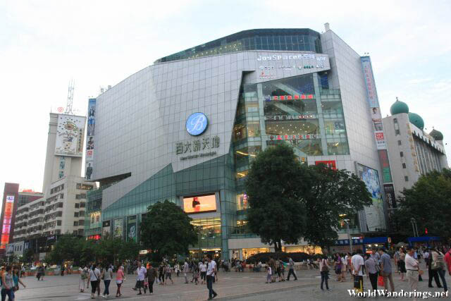 Large Shopping Mall at Wuhua District in Kunming 昆明五华区