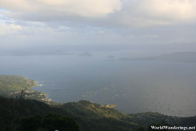 Slivers of Sunlight Hit Taal Lake