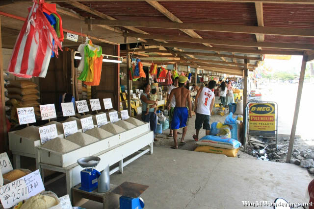 Dry Market Area Outside the San Jose Public Market in Puerto Princesa