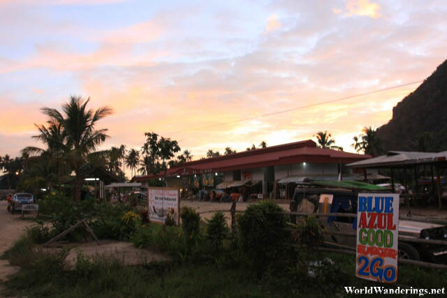 Sunset at the El Nido Market