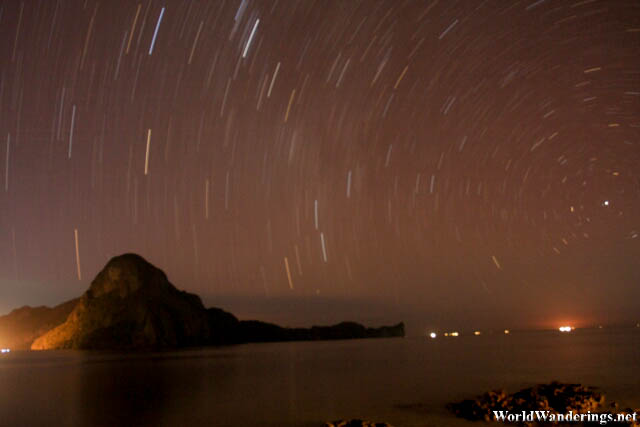 Star Trails at El Nido