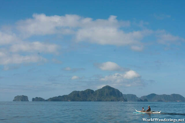 Helicopter Island in the Distance at El Nido
