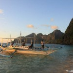 Raising Anchor at Ipil Beach in El Nido